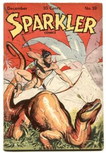 Sparkler #39 1944-Tarzan by Hogarth- Sparkman G+