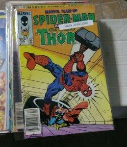 MARVEL TEAM UP # 148 1984 MARVEL MARK JEWELERS VARIANT THOR SPIDER-MAN VENOM