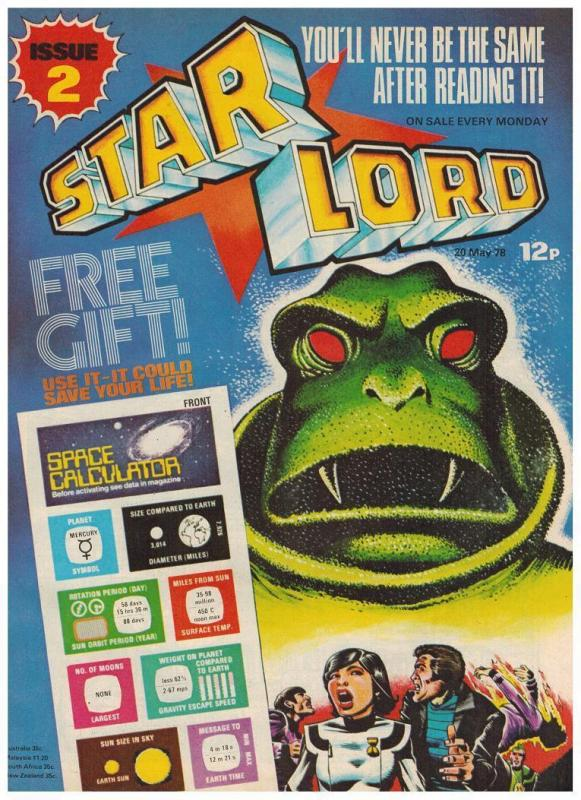 STAR LORD (BRITISH WEEKLY) 2 VF-NM w/ SPACE CALCULATOR