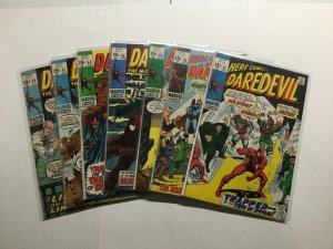 Daredevil 61 62 64-67 69 Lot Run Set Very Good To Fine 4.0-6.0 62 Is 2.0 Marvel