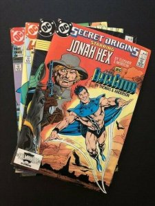 LOT OF 4-SECRET ORIGINS#21,22,25,35 '87/'88 Jonah Hex/Justice League F/VF (A146)