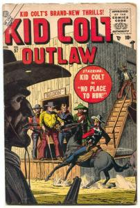 Kid Colt Outlaw #57 1956- Russ Heath cover- Atlas Western VG