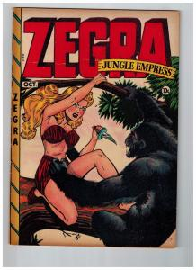 Zegra Jungle Empress #2 VF 1948 Golden Age Comic Book Fox Features Syndicate JJ1