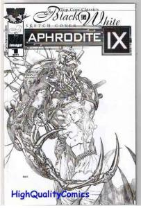 APHRODITE IX #1, Black White Sketch cover, VF+, Dave Finch, Femme Fatale, 2000