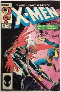 UNCANNY X-MEN#201 FN/VF 1986 MARVEL COMICS