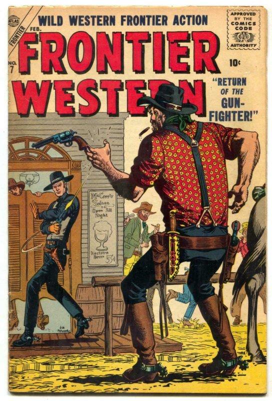 Frontier Western #7 1957- Atlas Comics- Maneely cover FN+