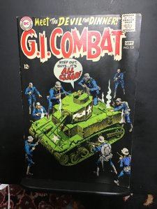 G.I. Combat #131 (1968) Mid-high-grade, key black cover Haunted Tank! FNVF Wow!
