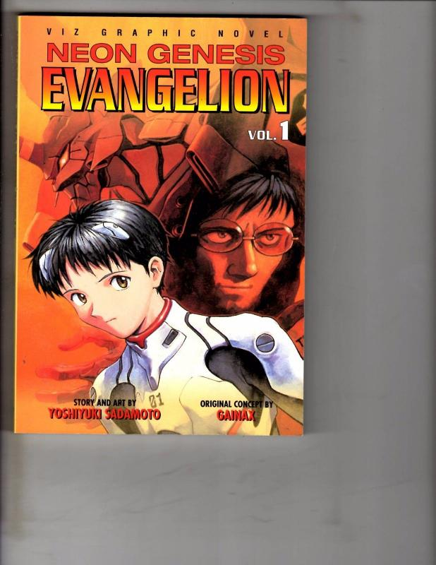 Neon Genesis Evangelion Vol. # 1 Viz Graphics Novel Comic Book Manga Anime AB1