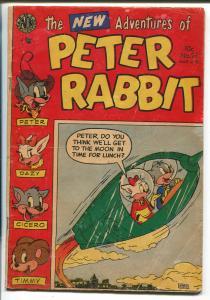 Peter Rabbit #21 1954-Avon-rocket cover-moon travel-VG