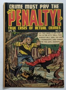 Crime Must Pay The Penalty #31 (Apr 1953, Ace) VG+ 4.5