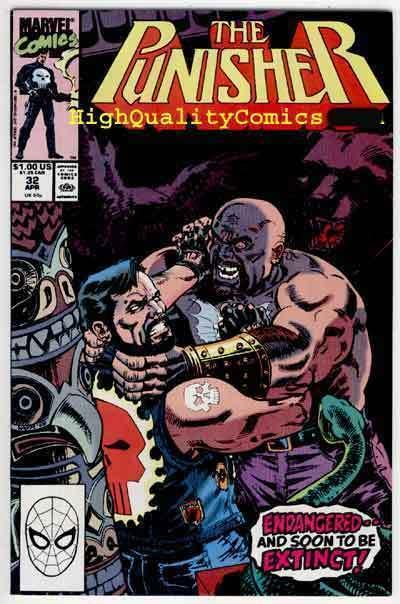 PUNISHER #32, NM+, Bikers, Chains, guns, Mike Baron,1987, more Marvel in store
