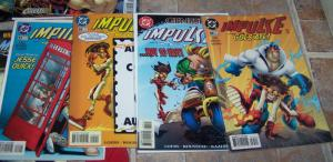 impulse lot of comics #  1 5 11 13 14 22 29 30  dc   bart allen aka kid flash II