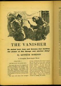 Doc Savage Pulp December 1936- The Vanisher- Kenneth Robeson- Bargain copy