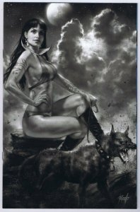 Vampirella Vol 8 #7 J Incentive Lucio Parrillo Black & White Virgin Variant GGA