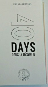 40 Day dans le Desert B; Moebius, Expanded Edition! HC
