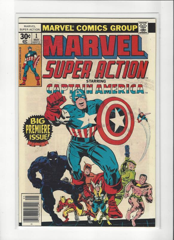 MARVEL SUPER ACTION  #1 1ST CAPTAIN AMERICA NM Nice Copy