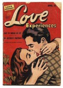 LOVE EXPERIENCESE #12-1951-PRECODE ROMANCE G
