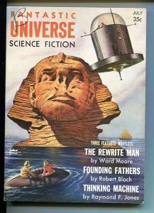 FANTASTIC UNIVERSE SCIENCE FICTION-JUNE 1956-SILVERBERG-VF-BLOCH VF