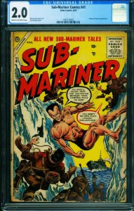 Sub-Mariner #41 CGC 2.0-Namora-ATLAS comic book-1955 1487316003