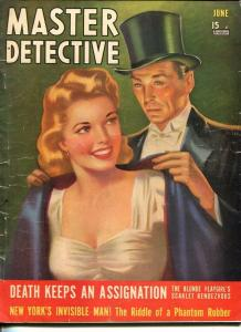 MASTER DETECTIVE-JUNE 1941-G-FOXLEY COVER-MURDER-ASSASSIN-PLAYGIRLS G