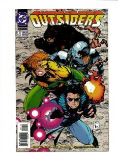 Lot of 14 Outsiders DC Comic Books #0 1 1 2 3 4 5 6 7 8 9 10 11 12 J397