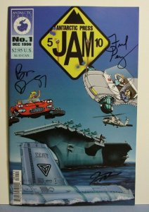 JAM #1 (Antactic Press 1996) AUTOGRAPHED FRED PERRY BEN DUNN JOE WIGHT L@@K!!