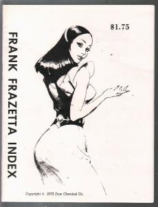 Frank Frazetta Art Index 1975-Nardeli-checklist of Frazetta art in many media-NM