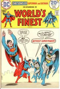 WORLDS FINEST 221 VF+ Feb. 1974 COMICS BOOK