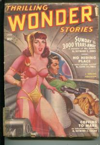 THRILLING WONDER STORIES 6/1950-ARTHUR C CLARKE-PULP-fr/good