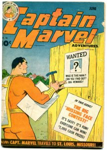 Captain Marvel Adventures #36 1944- Fawcett Golden Age- poor