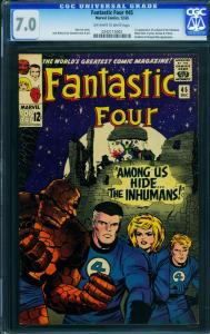 Fantastic Four #45- CGC 7.0-First Inhumans-Key Marvel Issue 0242115002