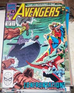 Avengers # 319 (Jul 1990, Marvel) the crossing line captain america thor vision