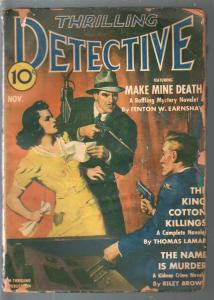 Thrilling Detective 11/1941-radio broadcast crime cover-mystery-FR/G
