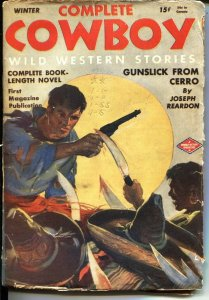 COMPLETE COWBOY-WINTER 1945-MEXICAN BANDITS WITH BLOODY MACHETES-- PULP-WW2