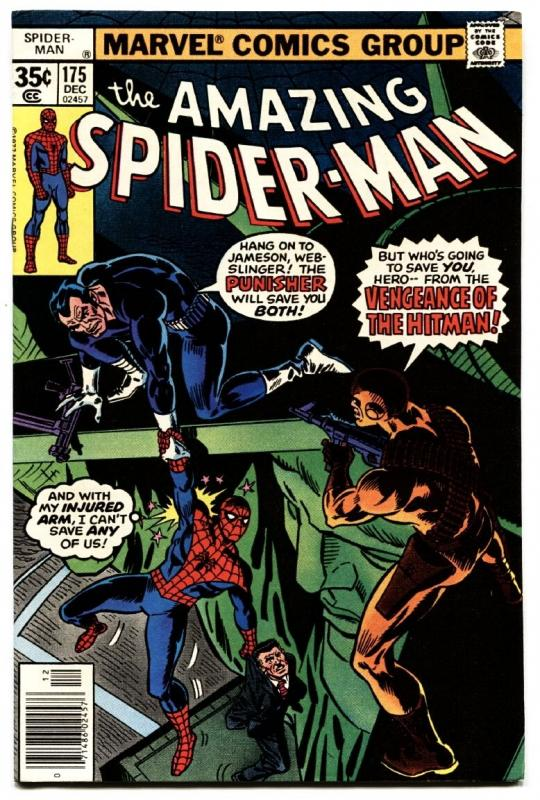 AMAZING SPIDER-MAN #175-MARVEL COMICS-PUNISHER COVER-comic book