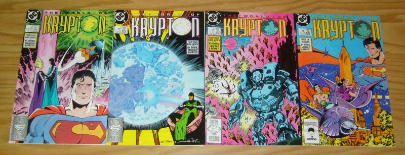 World of Krypton #1-4 VF/NM complete series MIKE MIGNOLA superman JOHN BYRNE 2 3