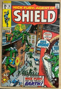 NICK FURY, AGENT OF SHIELD #16 (Marvel,11/1970) VERY GOOD (VG)  Kirby!