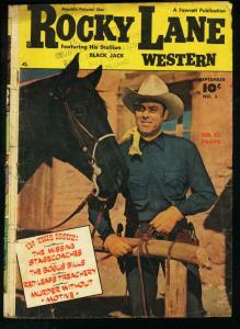 ROCKY LANE WESTERN #5-FAWCETT-PHOTO CVR-1949 G
