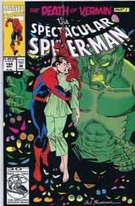 Spectacular Spiderman #194 ORIGINAL Vintage 1992 Marvel Comics