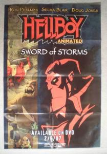HELLBOY SWORD OF STORMS Promo Poster, 24x36, Unused, more Promos in store