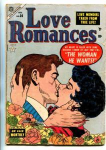LOVE ROMANCES #36-1954-ATLAS-VINCE COLLETS-HEADLIGHT PANELS-HAPPY ENDINGS-fr