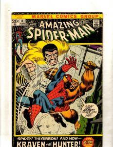 Amazing Spider-Man # 111 FN Marvel Comic Book Stan Lee Goblin Kraven Rhino FM2