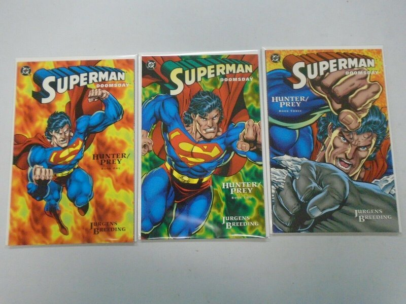 Superman Doomsday Hunter Prey Set: #1-3 8.0 VF (1994)