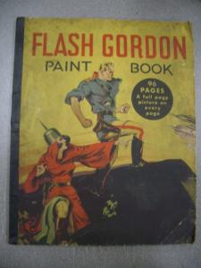 FLASH GORDON PAINT BOOK 1936 WHITMAN MING THE MERCILESS G