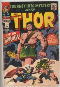 Journey into Mystery #124 (Jan-66) VG Affordable-Grade Thor, Hercules