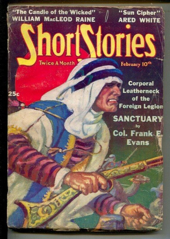 Short Stories 2/10/1938-Doubleday-William F. Soare Arab attack cover-Pulp adv...