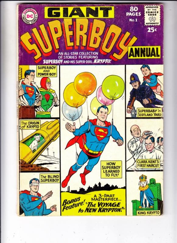 Superboy Annual #1 (Jun-64) FN- Mid-Grade Superboy