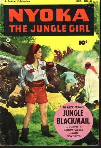 NYOKA JUNGLE GIRL #48 MOVIE PHOTO COVER  1950 FAWCETT VG/FN