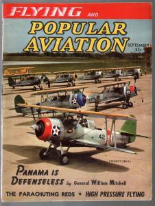Popular Aviation 9/1940-Vought sbu-1 cover-Gen Billy Mitchell-pulp thrills-FN