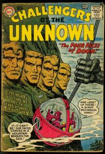 CHALLENGERS OF THE UNKNOWN #10 HERO TEAM-UP SERIES '59 FR/G